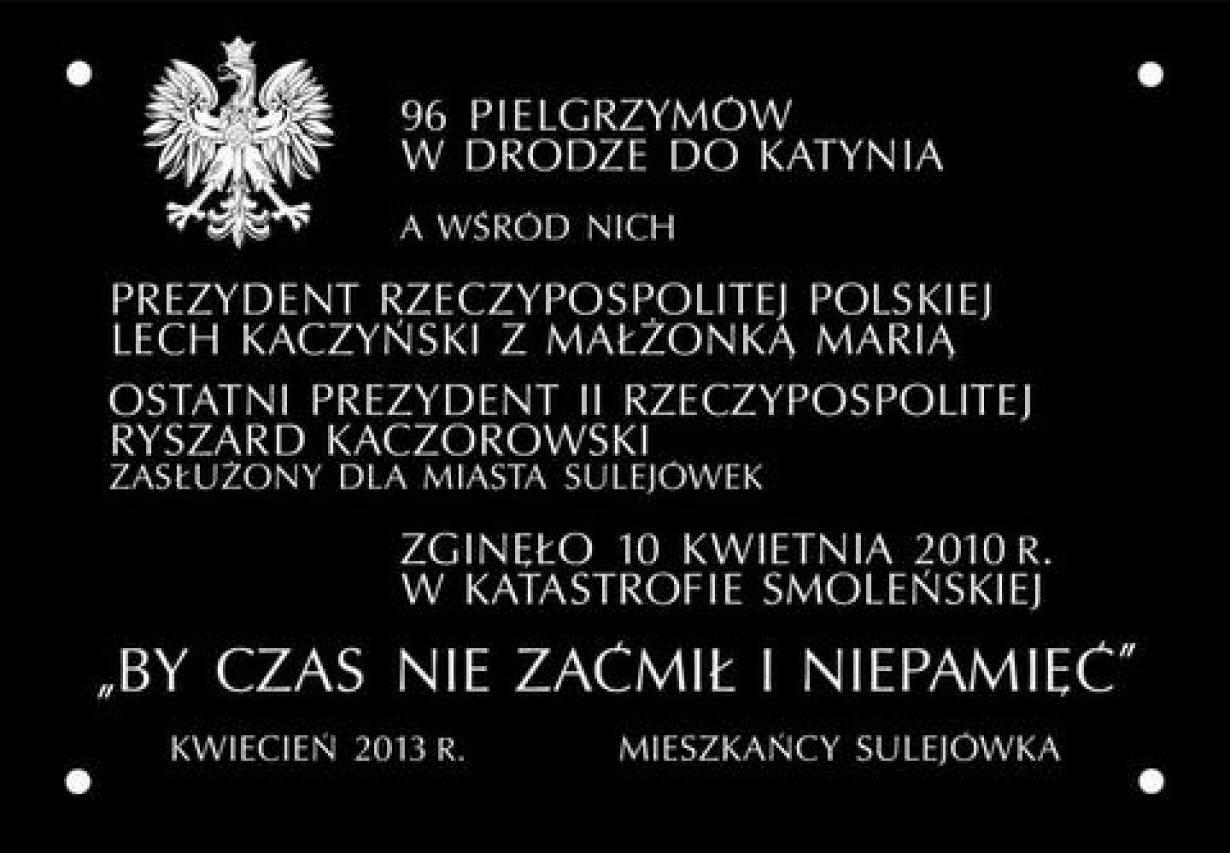 Ku pamięci ofiar Smoleńska